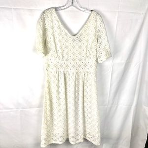 BANANA REPUBLIC MADMEN white eyelet lace dress 14